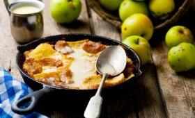 Visada pavykstantis obuolių ir duonos pudingas