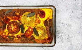 Ypatingasis duonos ir pomidorų pyragas pagal Alfą Ivanauską
