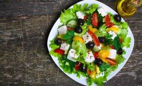 Graikiškos salotos – sveikos ir spalvingos