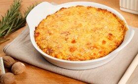 Virtų bulvių ir varškės kugelis – nustebsite, kaip skanu