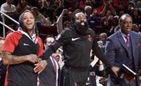 """""""Spurs"""" ir """"Rockets"""" pergalės dar labiau sujaukė situaciją NBA Vakarų konferencijoje"""
