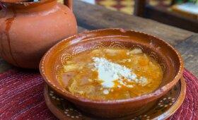 Meksikietiška trinta pupelių sriuba Sopa Tarasca