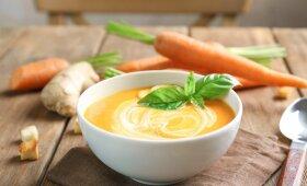 Trinta keptų morkų sriuba veganams