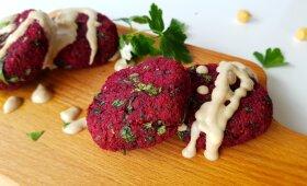 Burokėlių falafeliai