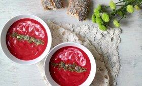 Vegetariškas pirmadienis: gardi burokėlių ir saldžiųjų bulvių sriuba