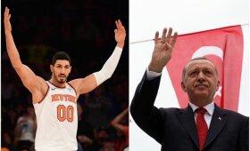 Mįslė socialiniame tinkle: NBA labiau bijo Kanterio ar Turkijos prezidento?