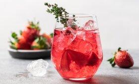 Gaivus naminis braškių limonadas pagal Alfą Ivanauską