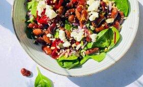 Sočios, bet gaivios pupelių ir burokėlių salotos pagal Alfą Ivanauską