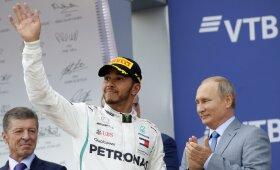 Lewisas Hamiltonas (kairėje), Vladimiras Putinas