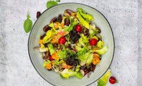 Gaivios salotos su netikėtu kivių padažu pagal Alfą Ivanauską