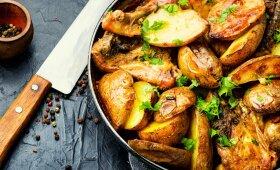 Klasiška vieno puodo vakarienė: vištiena ir bulvytės
