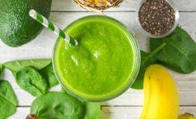 Žaliasis ananasų glotnutis su kokosų pienu