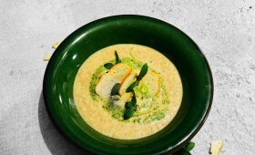 Grybų ir sūrio sriuba pagal Alfą Ivanauską
