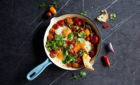 Šakšuka su pomidorais