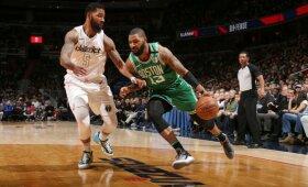 """NBA naktis: Torontui nepalanki """"Celtics"""" pergalė ir dramatiškas trileris Portlande"""