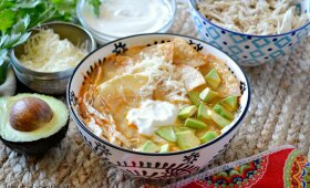 Sopa Azteca – meksikietiška tortilijų sriuba