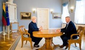 """Dalia Grybauskaitė – apie """"paskolas dėžutėse"""", VSD pažymas ir """"Agroverslo"""" susiliejimą su politika"""