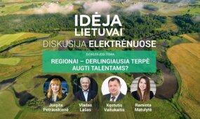 """""""Idėja Lietuvai"""" diskusija Elektrėnuose: regionai – derlingiausia terpė augti talentams?"""