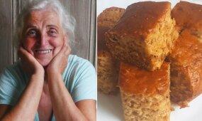 Paprastas kaip dukart du močiutės receptas: skanusis blokados pyragas