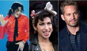 Michael Jackson, Amy Winehouse, Paul Walker'