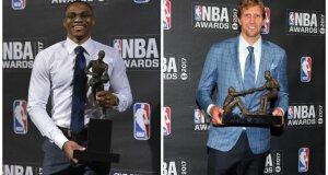 NBA lyga iškilmingai išdalino individualius apdovanojimus, sezono MVP – R. Westbrookas