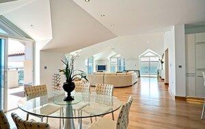 Penthouse stiliaus būstas - nebūtinai prabangus