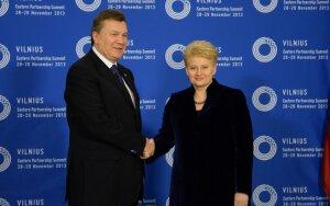 Viktoras Janukovičius, Dalia Grybauskaitė