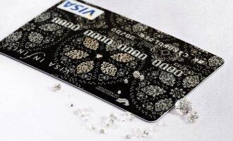 Deimantais inkrustuota kortelė