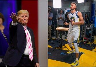 Įsižeidęs D. Trumpas atšaukė kvietimą NBA čempionams apsilankyti Baltuosiuose rūmuose