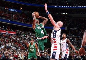 """Tiesioginiame DELFI TV eteryje – lemiamas 7-asis """"Celtics"""" ir """"Wizards"""" mūšis"""