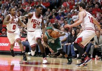 """Mažylio I. Thomaso vedami """"Celtics"""" išlygino serijos rezultatą Čikagoje ir susigrąžino namų aikštės pranašumą"""