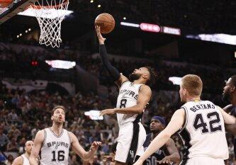 """Rezultatyvumu blykstelėjęs P. Millsas padėjo San Antonijaus """"Spurs"""" palaužti Memfio ekipą"""