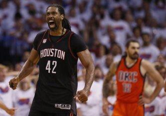 """NBA superžvaigždės nublanko prieš stebuklingai žaidusį veteraną iš Brazilijos, """"Thunder"""" sezonas pakibo ant plauko"""