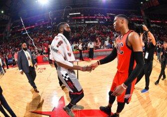 Rezultatyviausių NBA krepšininkų dvikovoje – daugiau nei pustrečio šimto taškų, tritaškių fiesta ir nulinis D. Sabonis