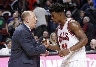 """Šokiruojanti naujokų biržos naktis – """"Bulls"""" išsiuntė klubo žvaigždę J. Butlerį į Minesotą"""