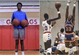 17-metis NBA legendos sūnus jau išstypo iki 218 cm ir dar augs