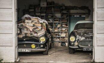 Rastas rūdijantis automobilių lobynas, vertas milijonų eurų
