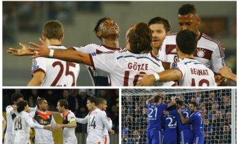 """Čempionų lygoje - """"Bayern"""", """"Šachtar"""" ir """"Chelsea"""" klubai negailestingai triuškino varžovus"""