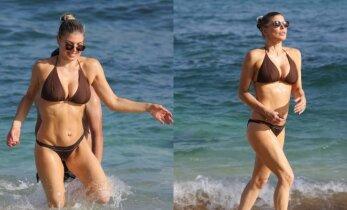 42-ejų Fergie paplūdimyje vis dar demonstruoja nepriekaištingą figūrą