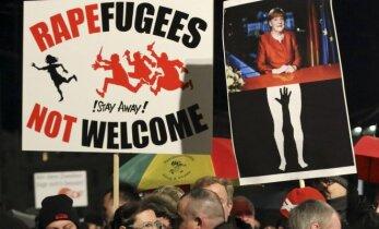 Vokietijoje tūkstančiai ultradešiniųjų protestavo prieš A. Merkel migracijos politiką