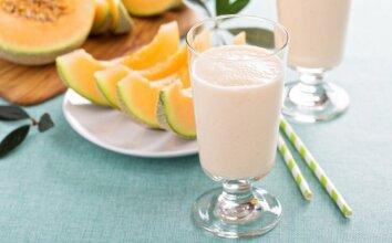Melionų ir jogurto kokteilis
