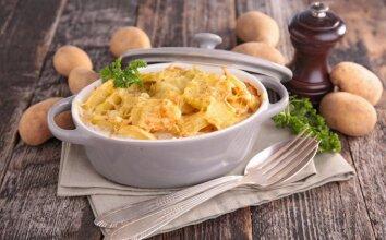 Bulvių ir sūrio apkepas