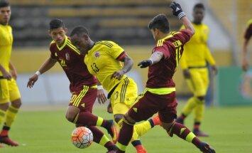 Valensijos ir Las Palmo futbolininkų grumtynės