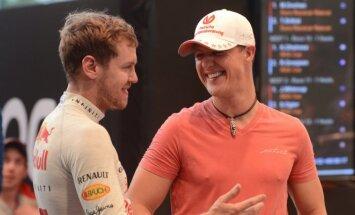 Sebastianas Vettelis ir Michaelis Schumacheris