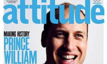 Princas Williamas gėjams skirto žurnalo Attitude viršelyje