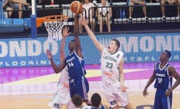 Lietuvos 17-mečių krepšinio rinktinė kovoja su Prancūzija