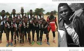 Mozambiko futbolininkas Estevao Alberto Gino tapo krokodilo auka