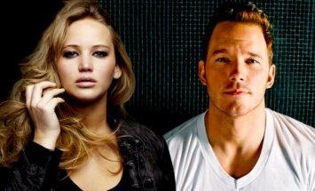Jennifer Lawrence ir Chrisas Prattas filme Keleiviai (SONY nuotr.)