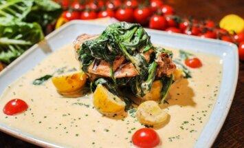 Pasiūlymas vakarienei – vištienos filė su špinatais