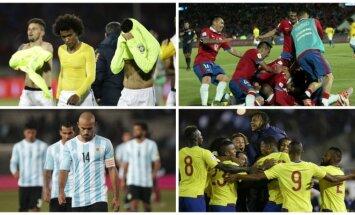 Brazilijos, Čilės, Argentinos ir Ekvadoro futbolininkai